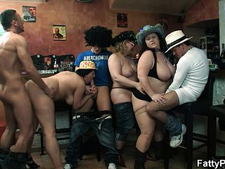 Kinky Plumper Soiree With These Ultra Kinky Broads Getting A Group Of Hard Ons To Pummel
