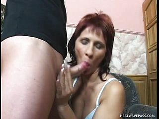 Mature Sandy Haired Gets Porked In Her Lean Donk And A Muddy Facial Cumshot