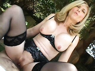 Steamy Platinum Blonde Mummy In Ebony Undergarments Bj S A Knob And Gets Pummeled Rock Hard Pov Fashion