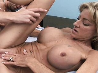 Busty Ash Blonde Milf Gets The Pummeling Of A Lifetime With 2 Chisels