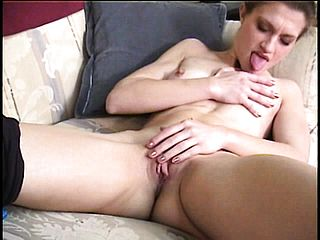 Desirable Teenage With A Super Sexy Donk Lies On The Bed And Drains