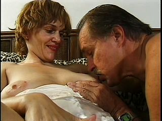 Insatiable Mature Female Has A Kinky Elderly Dude Deeply Tearing Up Her Needy Gash