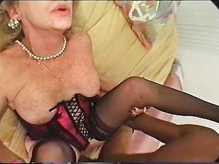 Large Jugged Grannie In Underwear Stretches Her Gams For A Large Ebony Meatpipe