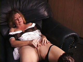 Naughty Maid Michelle Takes A Break To Make Her Moist Gash Jizm
