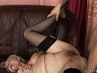 Wonderful Youthful Dude Luvs To Tempt A Grandmother And Plumb Her Like Kinky