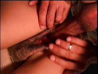 Cock-hungry Wifey Gets Her Unshaved Vulva Rammed With Some Big Boy Meat