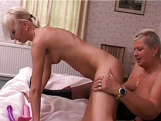 Dirty Maid Tracy Heads Down On A Mature And Lush Chunk Of Tail