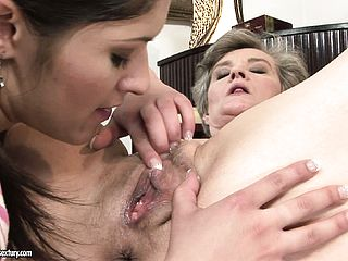 A Glass Of Champagne Makes Youthful Mega Slut Do Horny Things With An Older Lezzo