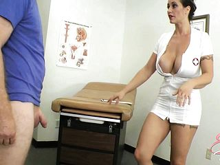 Kinky Nurse Eva Notty Attempts To Help Him With His Metal Firm Pink Cigar
