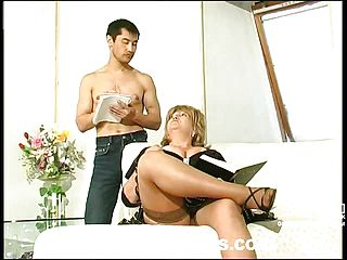 Lustful Mommy Providing Youthfull Man Meat A Good Exercise Craving For From The Rear Approach