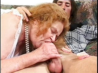 Naughty Aged Super Bitch Gets Her Jaws Boinked And Butt Pricked By Dark Hued Strap Dildo