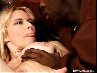 Yam Sized Jugged Mature Blondie Capitulates Her Needy Peach To A Dark Hued Guy