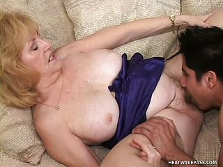 Grannie Luvs To Pound And She Entices Her Grandsons Greatest Buddy