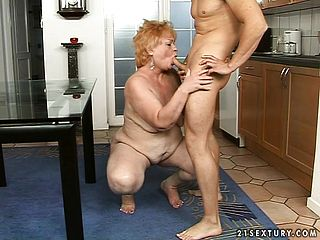Insatiable Grannie Tempts A Youthful Boy And Has Him Satisfying Her Cravings
