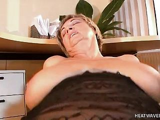 Mature Female Francsina Has Some Gigantic Melons And Rails Rod Well