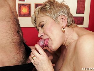 Naughty Blond Mature Is Longing For A Rock Hard Pink Cigar And A Deep Fucking