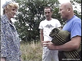 Naughty Ash Blonde Dame Has 2 Studs Fulfilling Her Sexual Dreams In The Outdoors