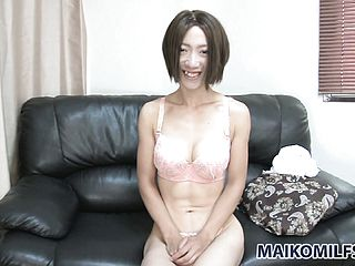Enthralling Japanese Damsel Puts On Show Her Nice Titties And Her Cock Squeezing Furry Honeypot