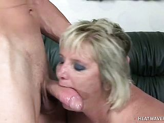 Huge Titted Ash Blonde Mature Dame Enjoys To Have The Youthfull Dudes Spunk Pump Romping Her Needy Beaver