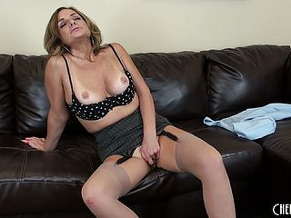 Mature Breezy Rebecca Bardoux Still Has Some Torrid Act Left In Her In This Solo