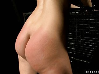 Mean Ash Blonde Stunner Penalizes Another Stellar Foolish Inwards Her Basement