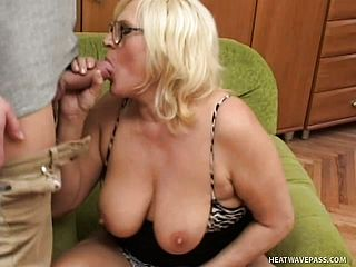 Obscene Mature Ash Blonde Gets Her Needy Peach Romped Firm In The Office