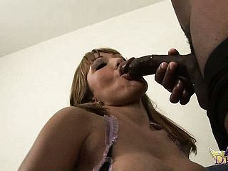 Stacked Mature Honey With A Thick Bum Ava Devine Wraps Her Lips Around A Dark Hued Man Sausage