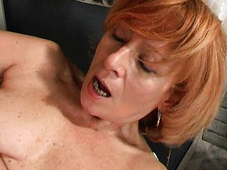 Stiffy Hungering Ginger Haired Mature Uses A Fake Penis To Satiate Her Sore Peach