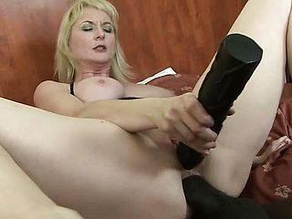 Chesty Platinum Blonde Cougar Monik Needs A Thick Dark Hued Hard On Deep In Her Ass Fuck Fuck Hole