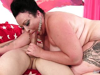 Curvaceous Dark Haired Has A Suspended Man Tearing Up Her Flamy Vag In Every Pose