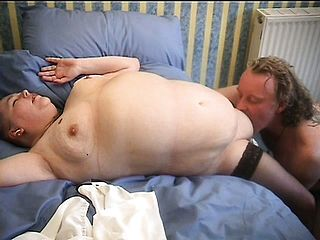 Mature Fatty Gets Down To Shag Her Stud As If They Were Youthful Again