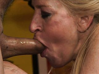 Mischievous Whore Deep Throating Spear And Getting Pulverized In Her Used And Senior Vagina