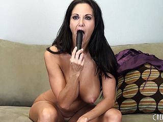 Ava Addams Uses Her Large Orbs To Super Fucking Hot Her Fuck Stick Before Wedging It In Her Cootchie