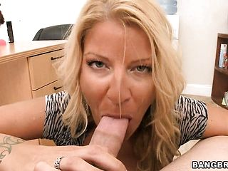 Cougar Hoe Gargles Man Meat And Gives A Tit Screwing In A Super Hot Office Hookup Pov Gig