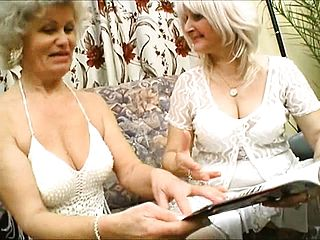 Grannie Gets It On With A Junior Lezzie Tonguing Slit And Frolicking Backside