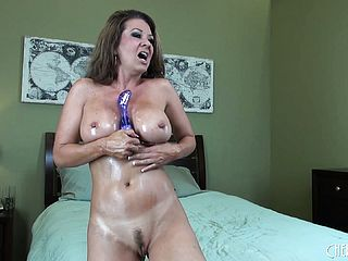 Huge Chested Milf Plows Herself Like Mischievous During A Xxx Display