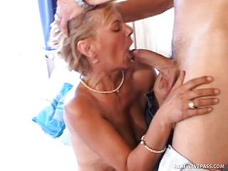 Smoldering Milf Has A Go With Her Buff Fellows Meat Ice Cream