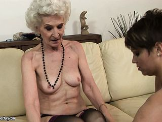 The Hairy Cootchie Of This Senior Honey Still Attracts Spectacular Youthful Lesbians