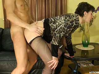 Lindas Fresh Desire Is To Penetrate Dressed And With Her Stockings Pulled Down Just A Tiny