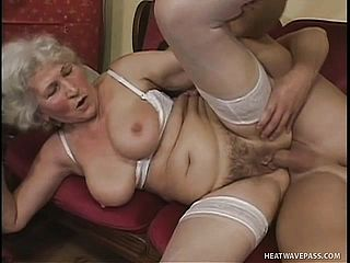 Busty Dick-loving Grannie Gets Into A Screw Festival With A Youthfull Stallion
