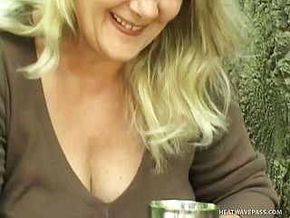 Nasty Blond Cant Wait For Her Bf To Poke Her In The Forest