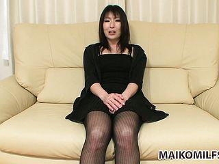 Provocative Chinese Mummy In A Marvelous Ebony Sundress Shares Her Sexual Wishes And Wishes